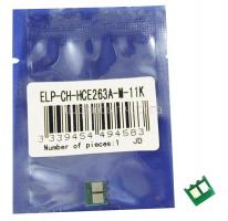 Чип картриджа HP Color LaserJet CP4025/4020/4525DN Magenta, 11K (ELP, Китай) CE263A