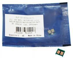 Чип картриджа HP Color Laserjet Enterprise 300 M351/ M375NW/400 color M451NW/M451DN/M451DW/M475DN/M475DW Cyan, 2.6K CE411A (ELP, Китай)