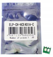 Чип картриджа HP Color Laserjet Enterprise 500 M551 Cyan, 6K CE401A (ELP, Китай)