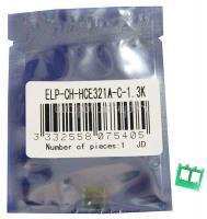 Чип картриджа HP LaserJet Pro CM1415/1525 (128A) CE321A Cyan, 1.3K (ELP, Китай)