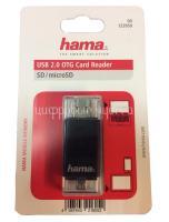 Картридер Hama USB2.0 OTG, черный (H-123950)