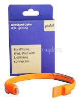 Кабель Gmini GM-WDC-3000, USB - Lightning, плоский, оранжевый, 1м