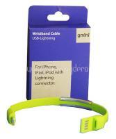 Кабель Gmini GM-WDC-300L, USB - Lightning, плоский, зеленый, 1м
