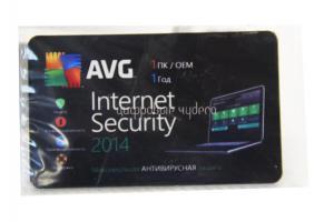 Антивирус AVG Internet Security на 1ПК, на 1год, ОЕМ
