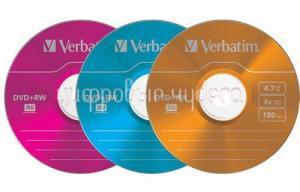 Диск DVD-RW Verbatim 4,7Gb 4x Color Slim Case (1шт)