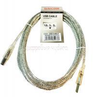 Кабель USB Am-Bm Telecom (VUS6900T-3MTP) прозрачная изоляция  3.0m