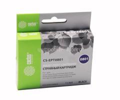 Картридж (T0801) Epson P50/PX660 черный (Bk) с чипом Cactus
