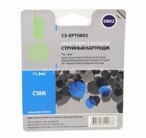 Картридж (T0802) Epson P50/PX660 голубой (C) с чипом Cactus