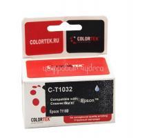 Картридж (T1032) Epson T1100/T30/T40W/TX600FW (синий) Colortek