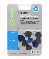 Картридж HP №11 (C4836A) голубой для HP 2000/2500/1000/1100/1200 (29ml) Cactus
