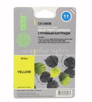 Картридж HP №11 (C4838A) желтый для HP 2000/2500/1000/1100/1200 (29ml) Cactus