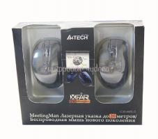 Мышь A4-Tech G10-660L-2, USB (черная), 2 мыши Nano 2.4ГГц, 4+1 кл-кн