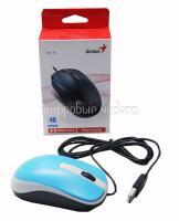 Мышь Genius DX-120, оптическая, 1000 dpi, USB, голубая, подходит под обе руки