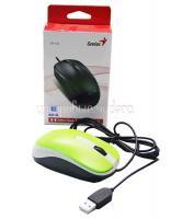 Мышь Genius DX-120, оптическая, 1000 dpi, USB, зеленая, подходит под обе руки