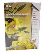 Обложка для брошюровки жесткая 230 г/кв.м кожа белые (100шт)
