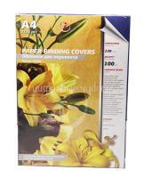Обложка для брошюровки жесткая 230 г/кв.м кожа синие (100шт)