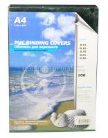 Обложка для брошюровки прозрачная зеленые А4 0,18мм (100шт)
