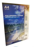 Обложка для брошюровки прозрачная черные А4 0,18мм (100шт)