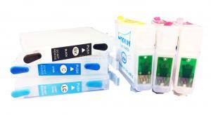 Перезаправляемые картриджи (ПЗК) Epson R270/R290/R390/RX590/1410/RX610/RX690/T50/TX700W (T082x) авто-чип (INKO)