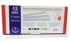 Пружина пласт. d=12 мм (100шт) прозрачные